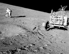 Commander David Scott Collecting Samples for Apollo 15  Photo Print for Sale
