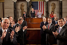 Congress Applauds Obama at State of the Union 2010 Photo Print for Sale