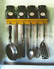 Cooking Utensils & Spices WWII Kitchen FSA Photo Print for Sale