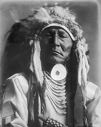 Crow Indian Bear Cut Ear Edward S. Curtis Photo Print