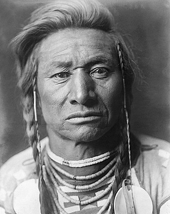 Crow Indian Chief Child Edward S. Curtis Photo Print