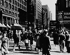Crowd on State Street in Chicago 1940 Photo Print for Sale
