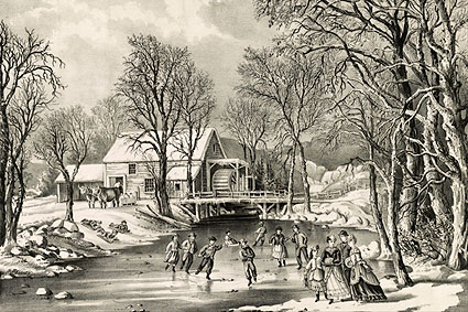 Currier & Ives 'Winter Pastime' Photo Print