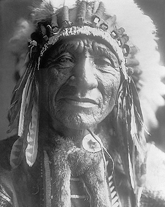 Dakota Indian Man Edward S. Curtis Portrait Photo Print