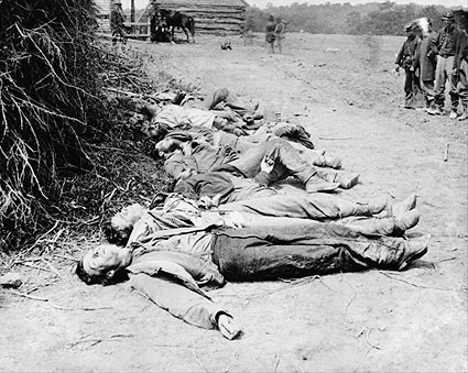 Dead Confederate Soldiers Virginia 1864 Photo Print