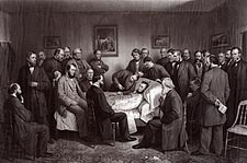 Death of President Abraham Lincoln Painting Photo Print for Sale