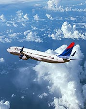 Delta Airlines Boeing 737 in Flight Photo Print for Sale