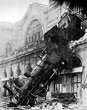 Derailment at Montparnasse Paris 1895 Photo Print for Sale