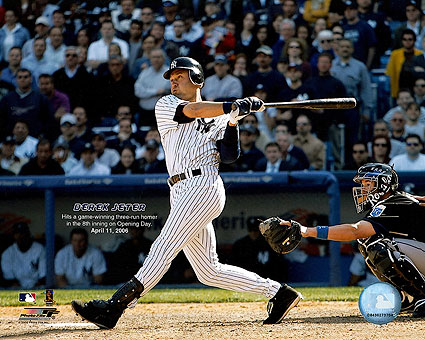 Derek Jeter New York Yankees Baseball Photo Print