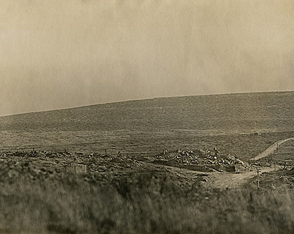 Destruction at Dead Man's Hill in France WWI Photo Print