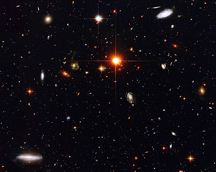 Distant Galaxies Hubble Space Telescope Photo Print