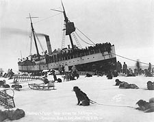 Dog Sledding & S.S. Corwin at Nome Alaska Photo Print for Sale