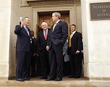 Donald Rumsfeld, George W. Bush & Cheney Photo Print For Sale