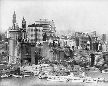 Downtown Manhattan & Fulton St. NYC, 1930s Photo Print