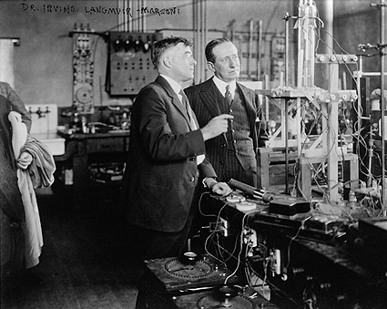 Dr. Irving Langmuir and Gugliemo Marconi Photo Print