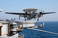E-2C Hawkeye Launches From USS Nimitz Photo Print for Sale