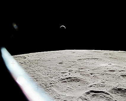 Earthrise Over Lunar Surface from NASA Apollo 15  Photo Print