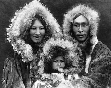 Edward S. Curtis 1929 Noatak Eskimo Family Photo Print