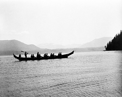 Edward S. Curtis Kwakiutl Indians in Boat Photo Print