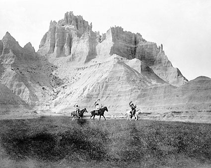 Edward S. Curtis Sioux Indians in Badlands Photo Print