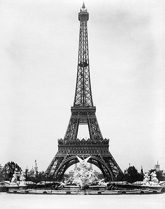 Eiffel Tower & Fountain Coutan, Paris 1889 Photo Print