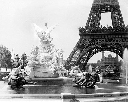Eiffel Tower & Palace Paris Exposition 1889 Photo Print