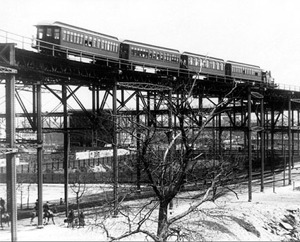 Elevated Railroad, 110th St., New York City Photo Print