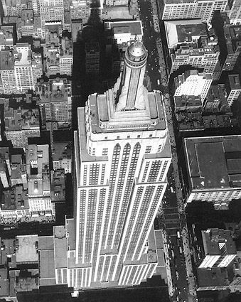 Empire State Building Aerial, New York City Photo Print