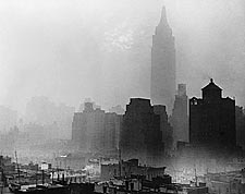 Empire State Building in Fog New York City Photo Print for Sale