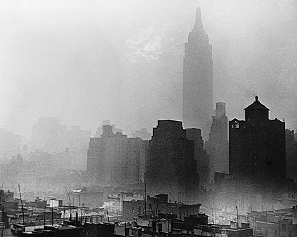 Empire State Building in Fog New York City Photo Print