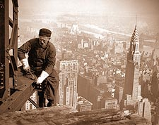 Empire State Building Iron Worker 1930 Photo Print for Sale