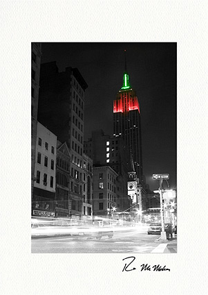 Empire State Building Luminous Christmas Boxed Greeting Cards