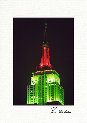 Empire State Building, New York City Christmas Individual Greeting Cards