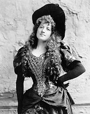 Entertainer Lottie Collins 1892 Portrait Photo Print for Sale