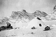 Eskimo Building an Igloo Canada 1929 Photo Print for Sale