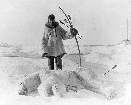 Eskimo Man After Polar Bear Hunt 1924 Photo Print