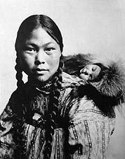 Eskimo Mother & Child Alaska 1906 Portrait Photo Print for Sale