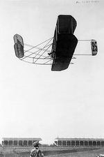 Eugene Lefebvre In Wright Brothers Plane Photo Print