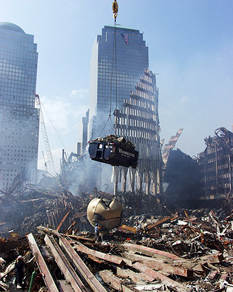Excavation Crane and The Sphere 9/11 Photo Print