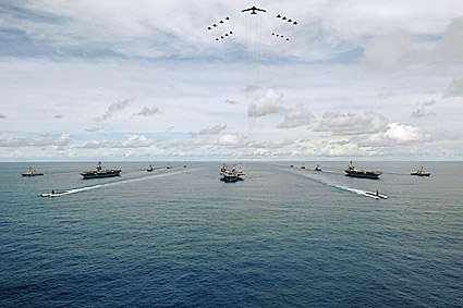 Exercise Valiant Shield w/ Aircraft Carrier Strike Groups Photo Print