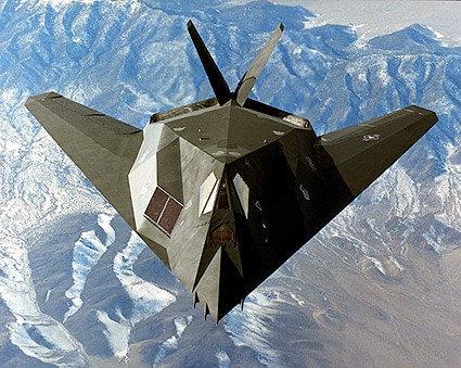 F-117 Stealth Fighter in Flight Photo Print