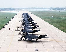 F-117A / F-117 Stealth Fighters Flight Line Photo Print for Sale
