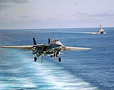 F-14 Tomcat VF-103 Carrier Landing Photo Print for Sale