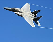 F-15 Eagle Banking Full Afterburner Photo Print for Sale