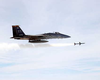 F-15 Eagle Fires Missile US Air Force Photo Print