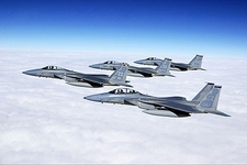 F-15 Eagles in Formation Photo Print