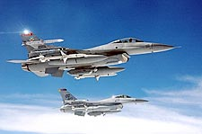 F-16 / F-16C Fighting Falcons in Flight Photo Print for Sale