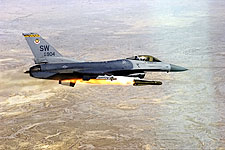 F-16 Falcon Fighter Fires Missile Photo Print for Sale