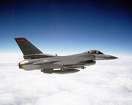 F-16 Fighter Jet in Flight Air Force Photo Print
