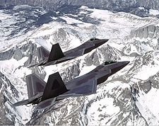 F-22 F/A-22 Raptor Aircraft Pair in Flight Photo Print for Sale